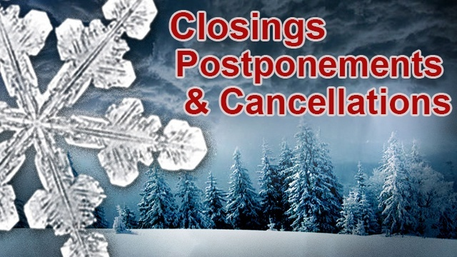 Closings and cancellations at Faith Lutheran Church in Okemos, Michigan