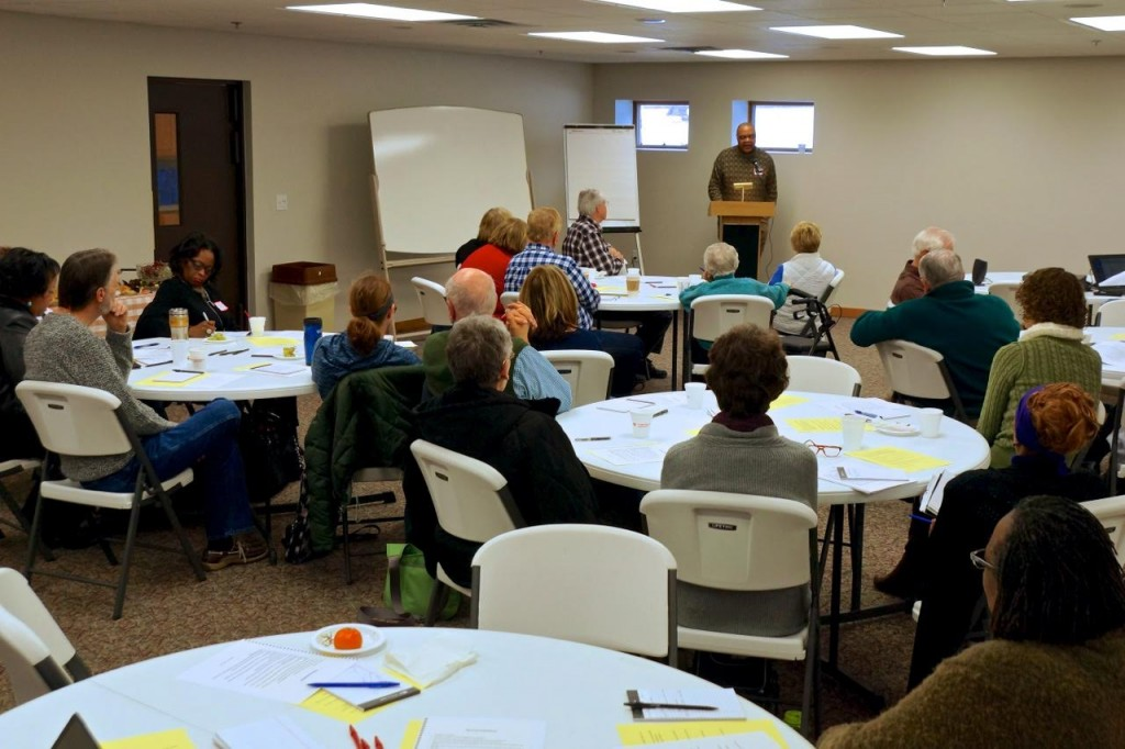 Photo taken at the anti-racism awareness/training at Faith Lutheran Church in Okemos, Michigan