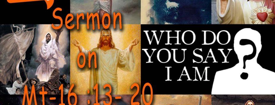 matthew 16: `13-20